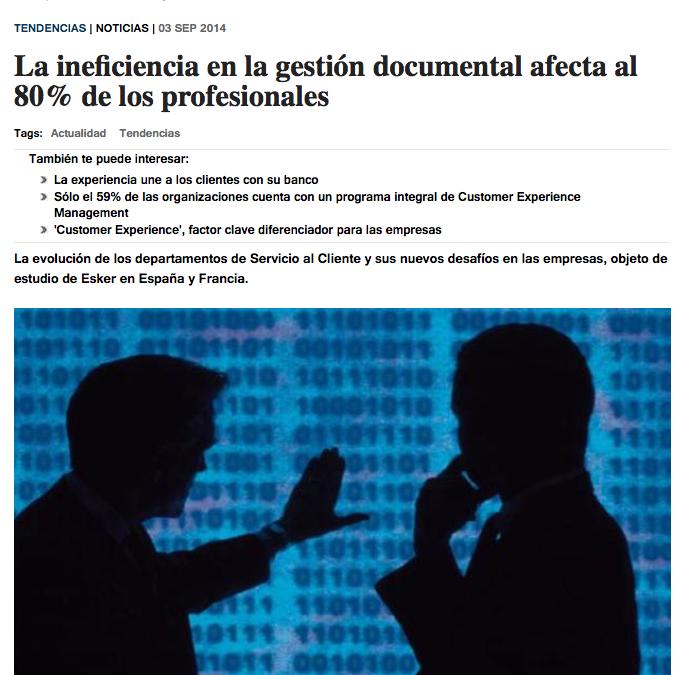 La ineficiencia en la gestión documental afecta al 80% de los profesionales